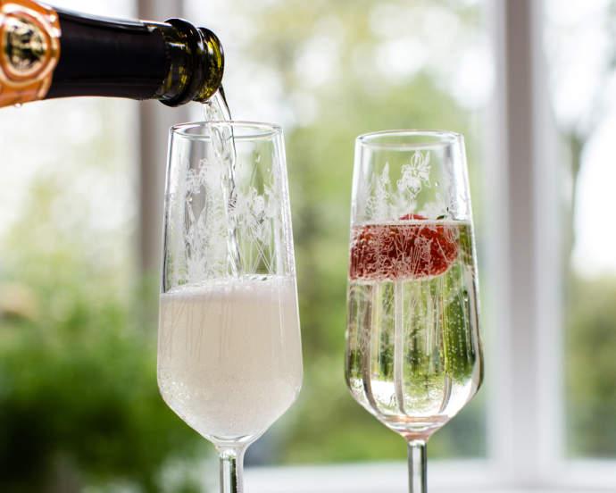 Emma Britton Floral Glass Champagne Flute