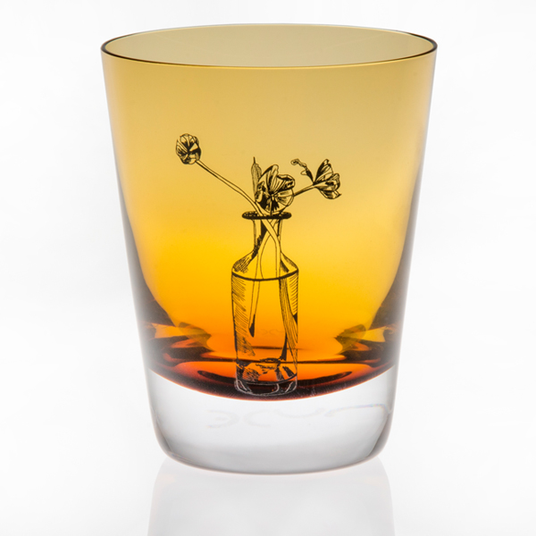 Amber Crystal Tulip Tumbler