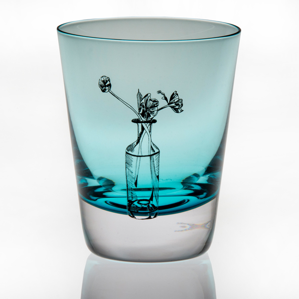 Turquoise Crystal Tulip Tumbler