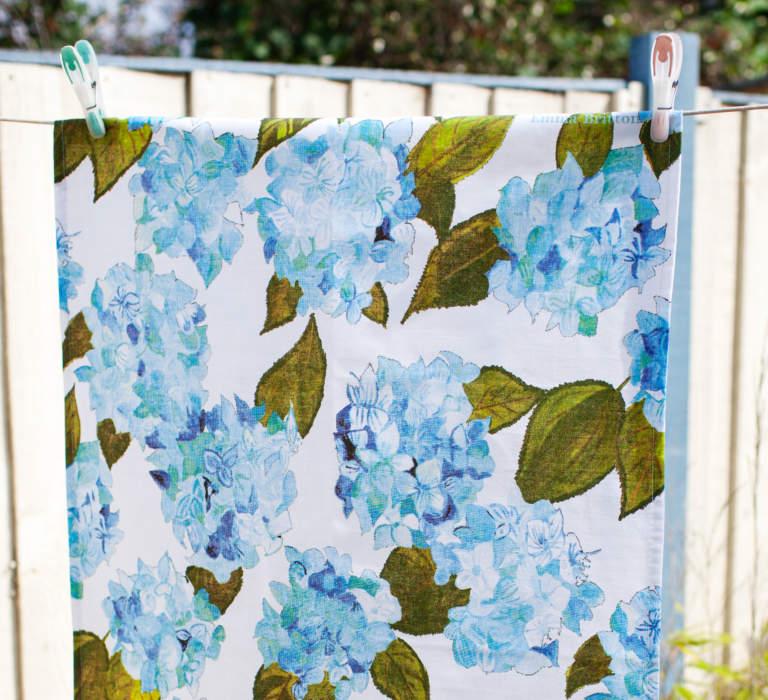 Emma Britton Hydrangea Tea towel