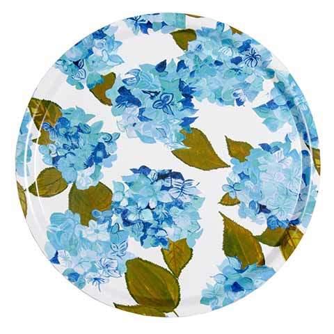 Blue and White Hydrangea Tray