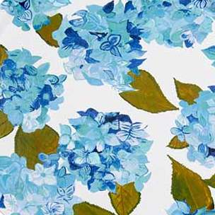 Blue & White Hydrangea Splashback Sample