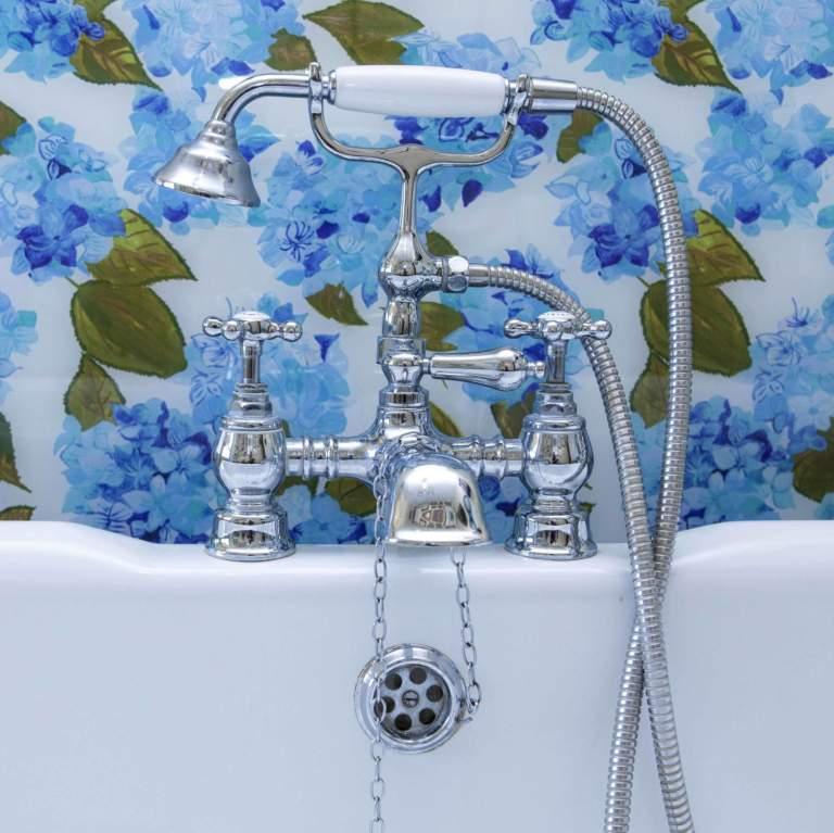 Blue & White Hydrangea Splashback Sample