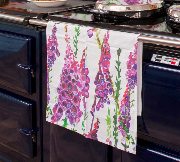 Foxglove Purple Tea Towel