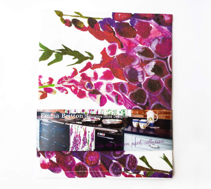 Emma Britton Foxglove Tea Towel