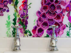 Emma Britton Decorative Glass - Foxglove Glass Splashback - Award Winning Design Brand