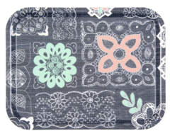 Pastel Lace in Grey Tray
