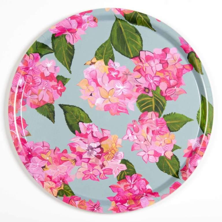 Pink Hydrangea Tray