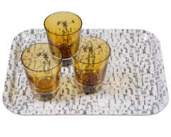 Mono Tray and Tulip Tumblers
