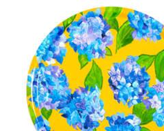 Blue hydrangea tray from Emma Britton splashbacks