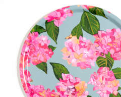 Pink hydrangea tray from Emma Britton splashbacks