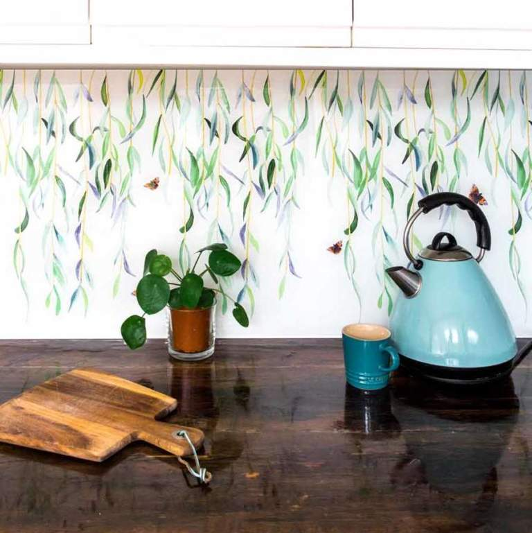 Willow and Red Admiral Splashback Sample