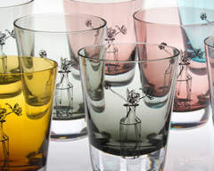 Coloured Glassware Crystal Tulip Tumblers Emma Britton