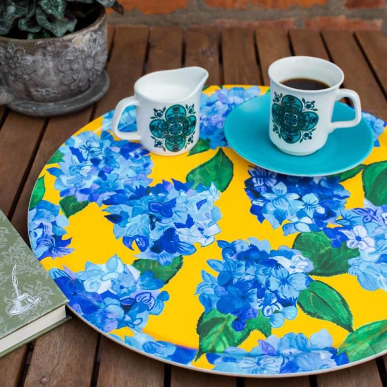 Blue Hydrangea Tray