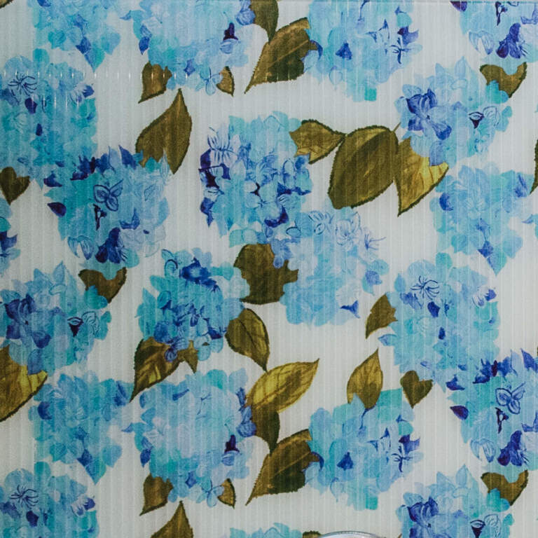 Blue Hydrangea Splashback Sample