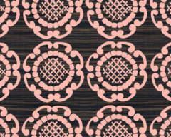 Pink Geo in Ebony Splashback Sample