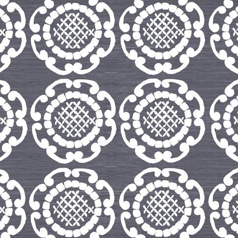 White Geo in Grey Splashback alternative to tiles