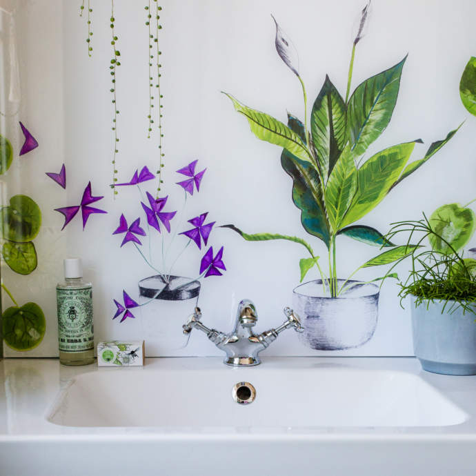 Emma Britton Plant Life in White featuring house plants