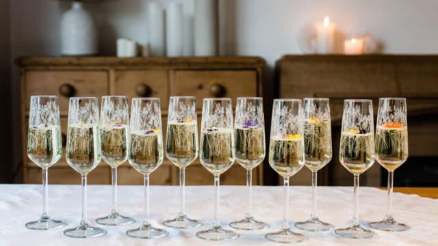 Emma-Britton-Floral-Champagne-Flute-Hire