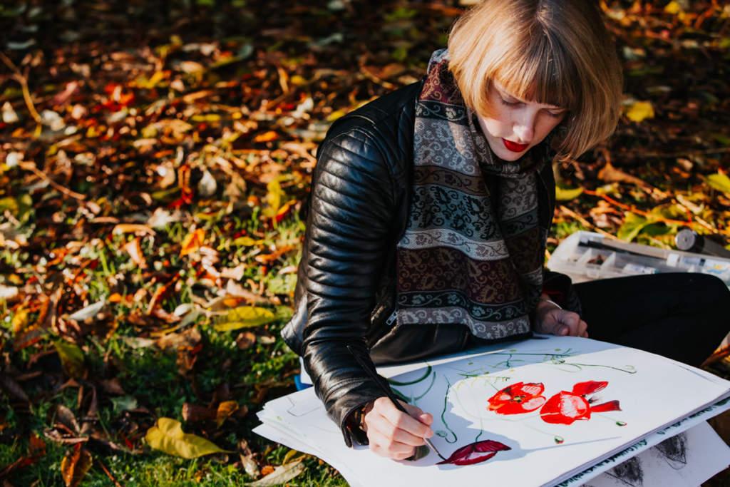 Emma-Britton-Decorative-Glass-Designer-sketching