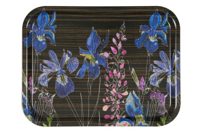 Tray - Watercolour in Ebony