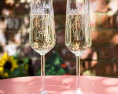 Emma Britton Decorative Glass Designer - 2 Floral Glass Flutes