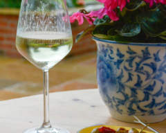 Meadow Wine Glass by Emma Britton