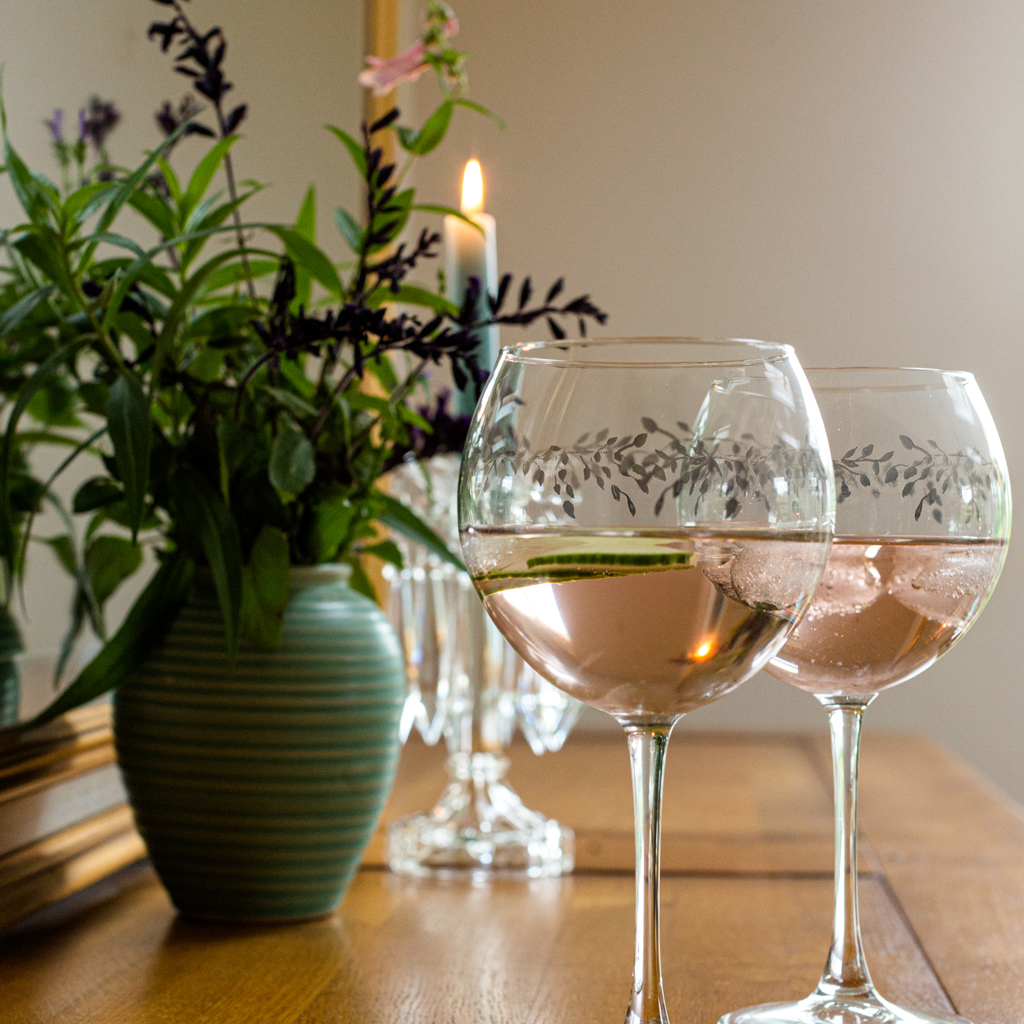 Two Emma Britton Ltd Edition Gin Glass