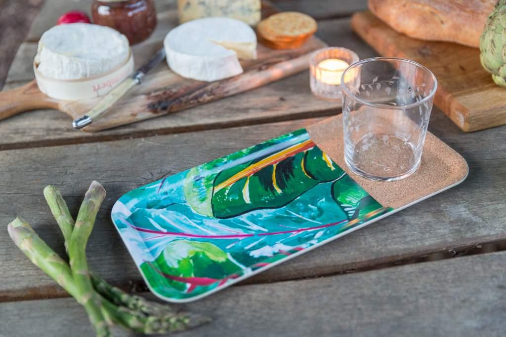 Emma Britton Decorative Glass Designer - Silver Birch Tumbler Gardener's Tray Small