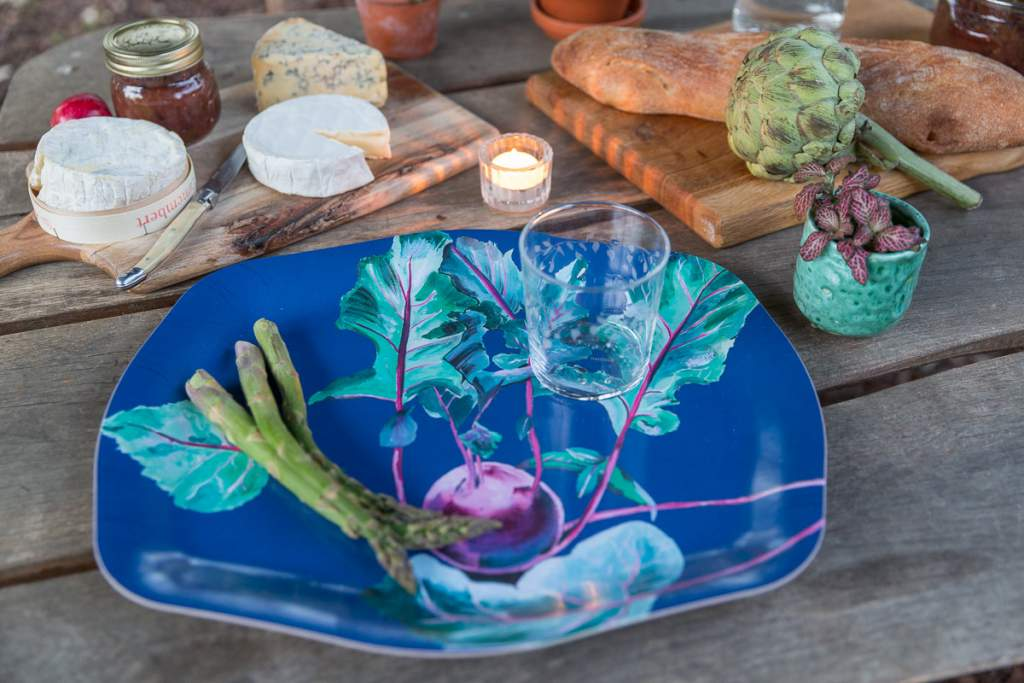 Emma Britton Decorative Glass Designer - Silver Birch Tumbler Gardener's Tray Large
