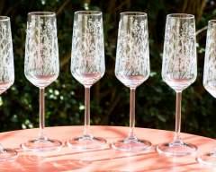 Emma Britton Decorative Glass Designer Meadow Flutes Champagne Glass