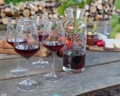 Emma Britton Decorative Glass Designer - Silver Birch Glassware Collection - Silver Birch Carafe & 4 Wine Glass – Gift Set - pretty wine glasses