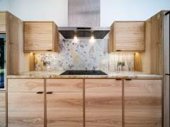 Emma Britton Decorative Glass Designer - Bespoke Splashback - Fife Kitchen Project