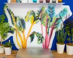 Emma Britton Decorative Glass Designer - Bright Lights Vibrant Splashback Design - HomeGrown Collection